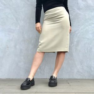 Vintage Cream / Off-White Pencil Skirt